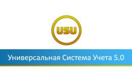 Пятая версия «Универсальная Система Учета»